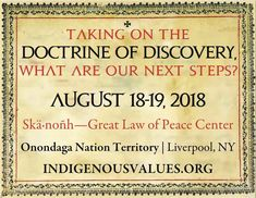 Taking on the Doctrine of Discovery, What are our Next Steps? | Doctrine of Discovery