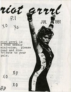 The first issue of Riot Grrrl zine, from 1991 #zines