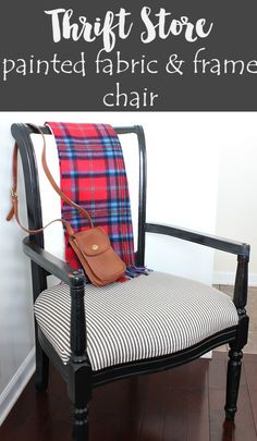 Thrift Store Painted Fabric & Frame Chair on Reinvented