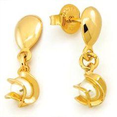 Aretes enchapados oro de 18 kt con perlas Código: 700 21715 Visitanos en Av. Ejercito 606 Of. 202 Yanahuara T. 397081