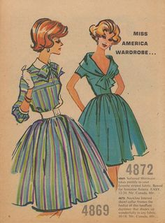 Miss America Wardrobe from 1959 Fashion Digest & Fabric News (via The Pie Shops)
