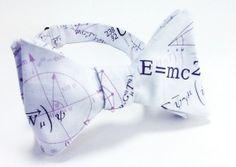 Einstein Physics Men's Self Tie Bow Tie by SpeicherTieCompany, $25.00