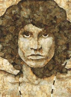 Jim Morrison...Cliff Maynard is an artist who uses a pretty unusual material as the medium of his art. He uses discarded roach papers from smoked joints to create awesome pieces of mosaics.