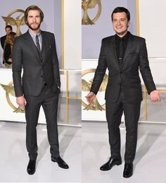 Of course, the guys looked equally as fantastic. Liam looked all grown up in a Dolce & Gabbana striped charcoal three-piece suit with a light-grey shirt and skinny tie and Mezlan shoes, while Josh Hutcherson went for a charcoal on black suit with a notched-lapel blazer.