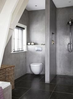 20 Amazing Bathroom Designs with Concrete | http://www.designrulz.com/design/2015/10/20-amazing-bathroom-designs-with-concrete/