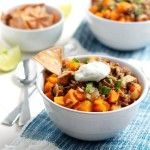 Chipotle Chicken, Butternut Squash, and Wild Rice Soup
