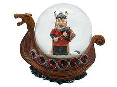 Viking Ship Snow Globe