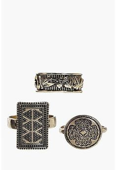 Gabriella Chunky Gold Ring 3 Pack