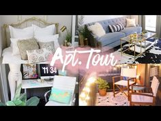 Apartment Tour 2016 | Modern Boho Style | RAVEN ELYSE - YouTube