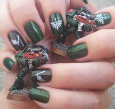 Dark Angels manicure