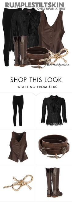 """""""Once Upon a Time"""" by wearwhatyouwatch ❤ liked on Polyvore featuring Valentino, L'Wren Scott, Emporio Armani, Sevan Biçakçi, Kiel Mead, Wallis, lace, skinny pants, ruffle blouses and leather bracelets"""