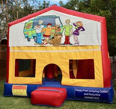 We offer free delivery within a radius of Cooroy & provide quality jumping castles to Gympie Council and Sunshine Coast Council residents. Obstacle Course, Basketball Hoop, Sunshine Coast, Sun Protection, Castles, Scooby Doo, Book, Happy, Chateaus