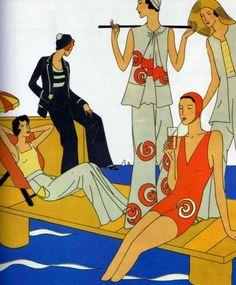 Paris beach fashion 1931