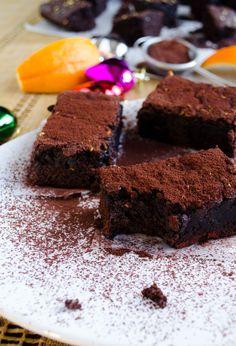 Orange Chocolate Brownies | giverecipe.com | #brownies #chocolate #orange