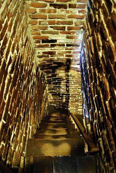 I've climbed the secret staircase installed inside the massive chimney in the House of Seven Gables in Salem, Massachusetts
