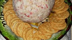 A mildly spiced cream cheese and crab mixture. Pour cocktail sauce over the chilled ball, and serve with crackers. Crab Cheese Ball Recipe, Crab Balls Recipe, Cream Cheese Ball, Cheese Ball Recipes, Crab Dip Recipes, Appetizer Recipes, Appetizers, Imitation Crab Dip Recipe, Cocktail Sauce