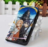 Sword Art Online 1   Manga Series   Custom wallet case for iphone 4,4s,5,5s,5c,6 and samsung galaxy s3,s4,s5