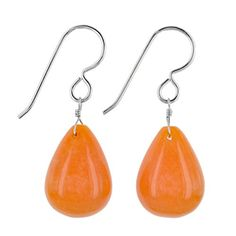 Mandarin Jade Gemstone Sterling Silver Handcrafted Earrings by Ashanti * Find out more about the great product at the image link.(This is an Amazon affiliate link)