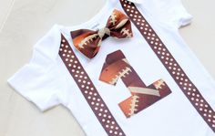 Football First Birthday Bodysuit First by CrestlineCreatives, $19.99