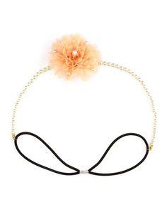 Chiffon Flower Pearl Headwrap: Charlotte Russe