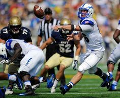 Air Force quarterback Karson Roberts pitches the ball against Navy Saturday in Annapolis. (Nick Wass/AP)