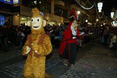 Momento de la cabalgata de los Reyes Magos.