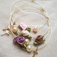 Χειροποίητα μαρτυρικά βάπτισης μεταλλικό βραχιόλι Girl Christening, Diy And Crafts, Pearl Earrings, Baby Shower, Bracelets, Baptism Ideas, Wedding, Jewelry, Decor