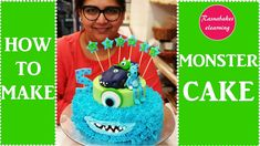 monsters inc cake:sully mike monsters inc movie whipped cream cake decorating classes videos Cartoon Birthday Cake, Friends Birthday Cake, Animal Birthday Cakes, 5th Birthday Cake, Frozen Birthday Cake, Cake Decorating For Beginners, Cake Decorating Classes, Easy Cake Decorating, Birthday Cake Decorating