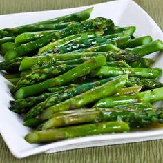 Barely-Cooked Asparagus with Lemon-Mustard Vinaigrette found on KalynsKitchen.com