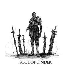 Dark Souls III - Soul of Cinder by Skinrarb on DeviantArt Dark Souls 3, Arte Dark Souls, Demon's Souls, Dark Fantasy, Fantasy Art, Soul Saga, Old Monk, Soul Tattoo, Dark Blood
