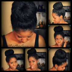 Alicia James' big high bun - nice!