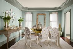 Benjamin Moore Storm Cloud Gray and Wythe Blue...Love!