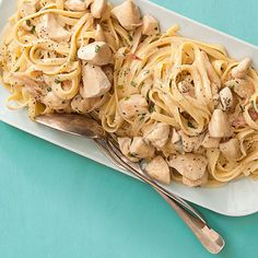 This hearty Chicken Stroganoff will make you want to curl up on the couch all weekend