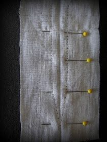 (facing tutorial, would also be great way to do a lacing placket) Romantic History: Making Judah's Medieval Tunic