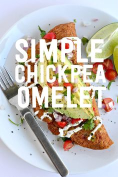 Breakfast just got EASY and tasty with this simple to make Chickpea Omelet for 2.