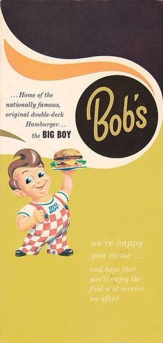 Bob's Big Boy Menu 1965 by hmdavid, via Flickr
