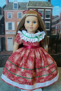June Gown for Marie Grace or Cecile / Clothes for American Girl Dolls