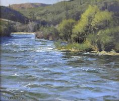 Salt River Running, oil on mounted canvas, 9 x 12 inches, Donald Demers.