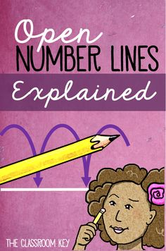 Strategies for teaching addition and subtraction using open number lines, a Common Core grade math skill Teaching Addition, Math Addition, Number Line Activities, Math Activities, Math Resources, Math Games, Teaching Numbers, Math Numbers, Open Number Line