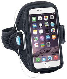 Armband for iPhone 6 Plus, 6s Plus, 7 Plus & Samsung Galaxy Note 4/5 - Great for Running, Workouts & Exercise [Black] ** You can find more details by visiting the image link.