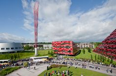 Olympic Torch at Jubilee Campus The Olympic Torch passed through the University of Nottingham's Jubilee Campus on Friday 29 June. As a special tribute to the Torch relay and for one day only, the University dressed up the Aspire sculpture. 2004 Olympics, University Of Nottingham, Athens, Dolores Park, 29 June, Torches, Travel, Urban Design, Events