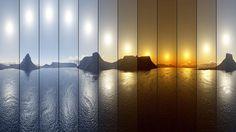 Jour polaire - Le soleil de minuit - http://www.photomonde.fr/jour-polaire-le-soleil-de-minuit/
