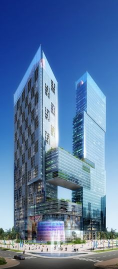Vien Dong Meridian Tower, Da Nang, Vietnam designed by Mooyung Architecture :: 48 floors, height 220m
