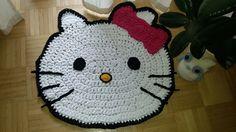 Handmade Hello Kitty Teppich / Fußmatte für Kinderzimmer.