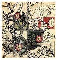 Y7 Hokusai Printing Project, William Morris, wallpaper print