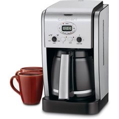 Cuisinart 14-Cup Coffeemaker ($65) ❤ liked on Polyvore featuring home, kitchen & dining, small appliances, appliances, furniture, coffee makers, small, cuisinart coffeemaker, programmable coffeemaker and programmable coffee maker