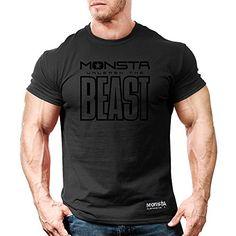 New Mens Workout Monsta Bodybuilding Wear Relentless Blue T Shirt ...