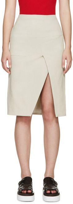 ACNE STUDIOS Beige Linen Karlotta Skirt.  acnestudios  cloth  skirt Mid  Length Skirts 11bd97d5b9d