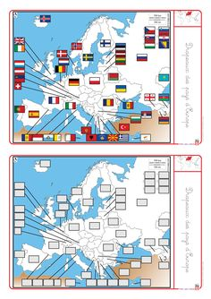 A complete file to study Europe (maps, flags, capitals, habi … – Education Subjects French Teacher, Teaching French, Montessori, French Classroom, World Geography, French Language Learning, Learn French, Preschool Activities, Social Studies