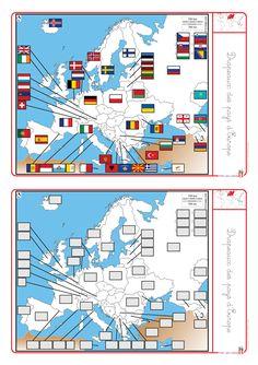 Un dossier complet pour �tudier l'Europe (cartes, drapeaux, capitales, habitants).